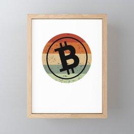 Bitcoin Logo Gift Framed Mini Art Print