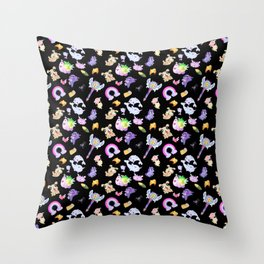 Star vs the Forces of Evil Pattern ( black ) Throw Pillow