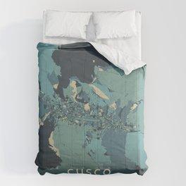 Cusco, Peru - Cream Blue Comforters