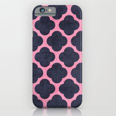 pink and navy clover Slim Case iPhone 6