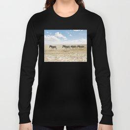 Zebra on African Savannah Long Sleeve T-shirt