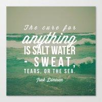 salt water Canvas Prints featuring Salt Water Cure by Olivia Joy StClaire