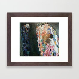 Gustav Klimt Death and Life Framed Art Print