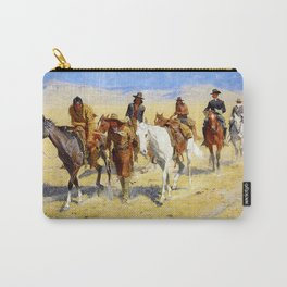 "Frederic Remington Art ""Pony Tracks In the Buffalo Trail"" Carry-All Pouch"