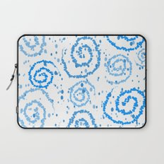 Abstract Blue Squigglisciousness Laptop Sleeve