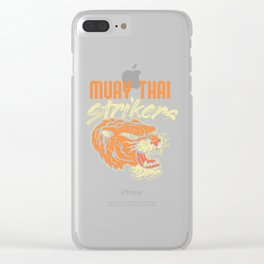 Muay Thai Strikers Tiger Kickboxing MMA Material Arts Judo Karate Gift Clear iPhone Case