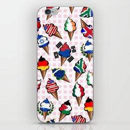 Ice cream flags iPhone Skin
