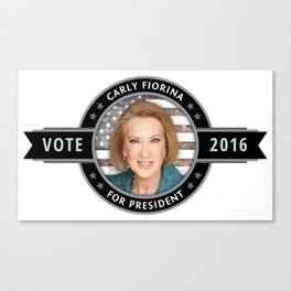 Carly Fiorina For President Canvas Print