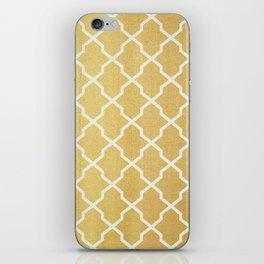 Gold Pattern iPhone Skin