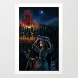 The Burning Man Art Print