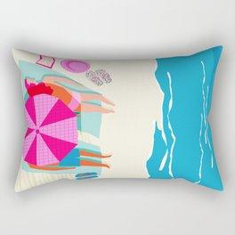 Toasty - memphis throwback minimal retro neon beach surfing suntan waves ocean socal pop art Rectangular Pillow