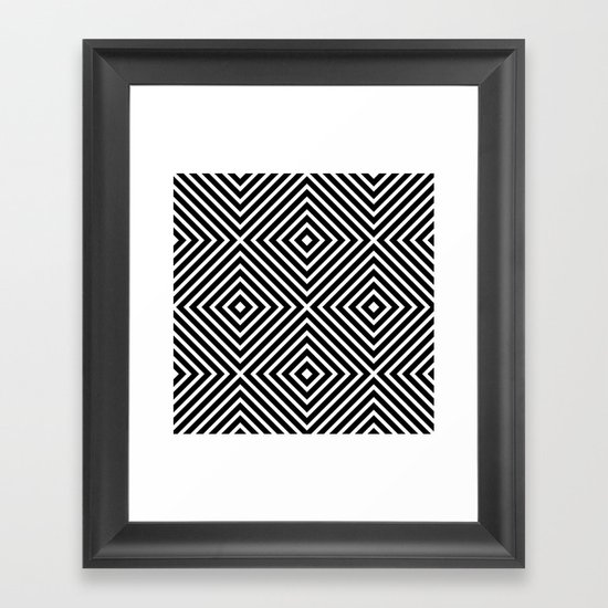 Chevron Diamond ///www.pencilmeinstationery.com Framed Art Print