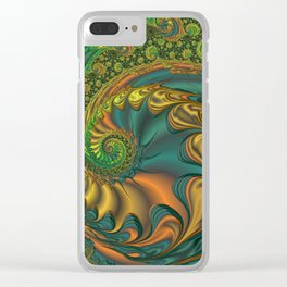 Dragon's Lair - Fractal Art Clear iPhone Case