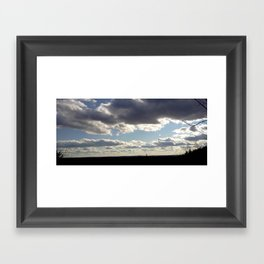 View From Up Here Framed Art Print
