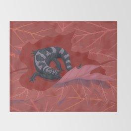 Marbled Salamander Throw Blanket