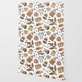 Coffee Break Pattern  Wallpaper