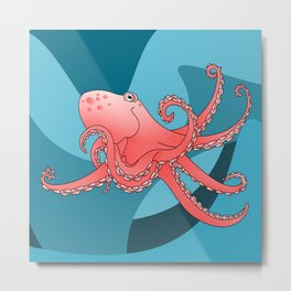 Octopus Pattern Metal Print