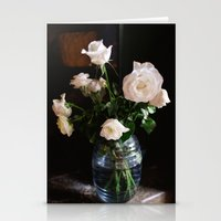 leah flores Stationery Cards featuring FLORES by Megan Robinson