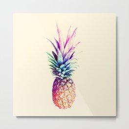 Mauve Pineapple Metal Print