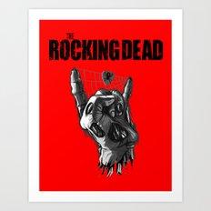 Zombie Horns TV parody edition - Red Art Print