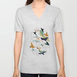 Chained birds Unisex V-Neck
