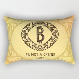BITCOIN is not a crime! Rectangular Pillow