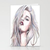 sky ferreira Stationery Cards featuring Sky Ferreira  by Asquared2Art