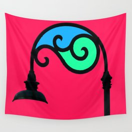 Street Lamp in My Mind Wall Tapestry