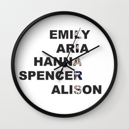 Pretty Little Liars - Girls Name Acrostic Wall Clock