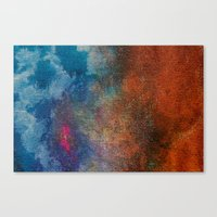 chameleon Canvas Prints featuring Chameleon by Bestree Art Designs