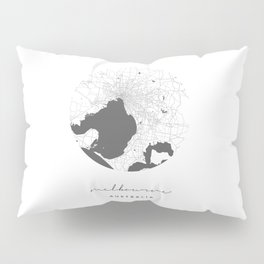 Melbourne Australia Circle Street Map Pillow Sham