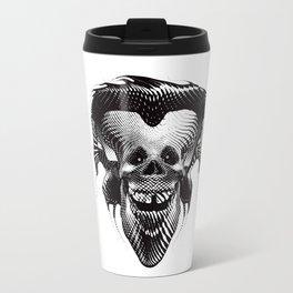 Funny Hipster Skull with Headphones Travel Mug