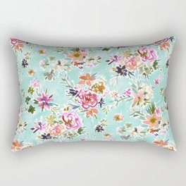 WILD LOVE Pretty Floral Rectangular Pillow