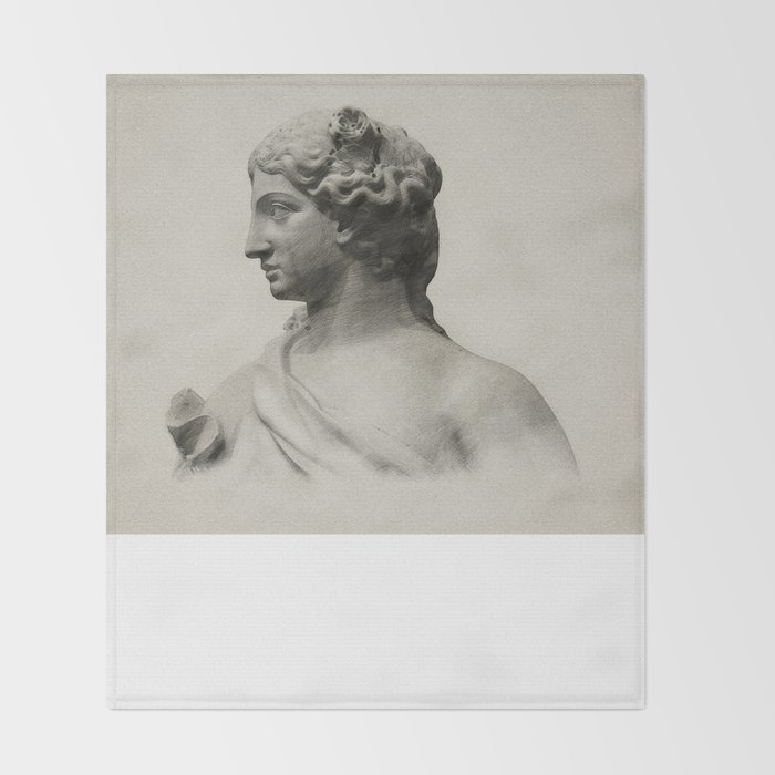 marble statue of spring Throw Blanket