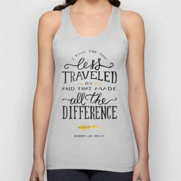The Road Not Taken By Robert Frost Unisex Tank Top