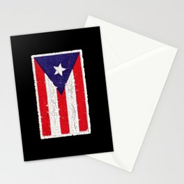 Puerto Rican flag with distressed textures Stationery Cards
