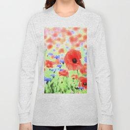 poppies art 004 Long Sleeve T-shirt