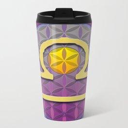 Flower of Life LIBRA Astrology Design Metal Travel Mug