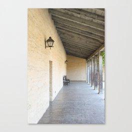 Old Outside Corridor Canvas Print