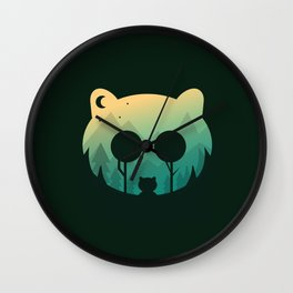 Two Little Bears Wall Clock