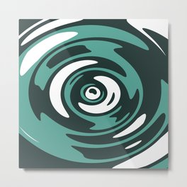 Abstract Green Whirlpool Metal Print