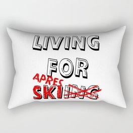 Aprés Ski Slogan Quote present Apresski vacation Rectangular Pillow