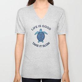 Life Is Good Take It Slow Unisex V-Neck
