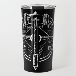 Hammer and Shield Travel Mug