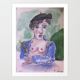 my  beauty  woman  Art Print