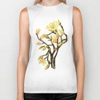 magnolia Biker Tanks featuring Magnolia by Lara Paulussen