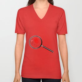 Detectives Magnifying Glass Unisex V-Neck