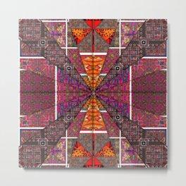 no. 256 brown maroon orange red Metal Print