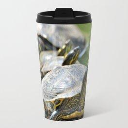 Turtles on a log Travel Mug