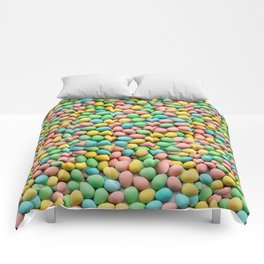 Mini Egg Milk Chocolate Easter Candy Pattern Comforters